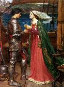 John William Waterhouse Tristram and Isolde (mk41) oil painting artist